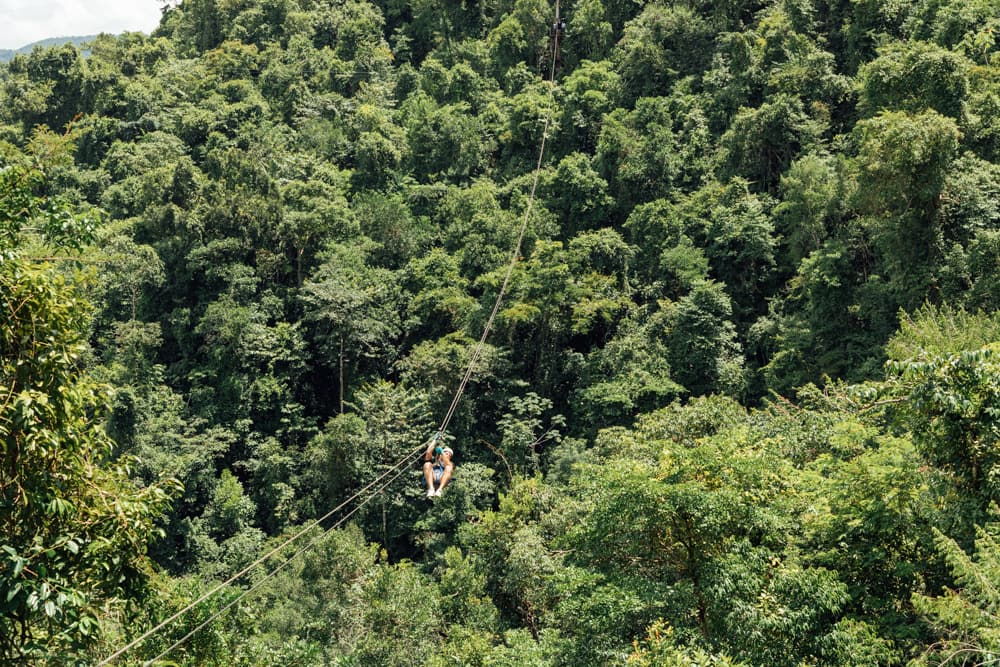 Ziplining iin Belize